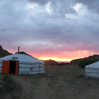 Our camp in the Ikh Nart nature preserve was bathed each night in the glow of yet another stunning sunset.