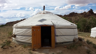 """""""Home Sweet Home""""- A typical Mongolian ger which housed myself and two other researchers for the duration of the project."""